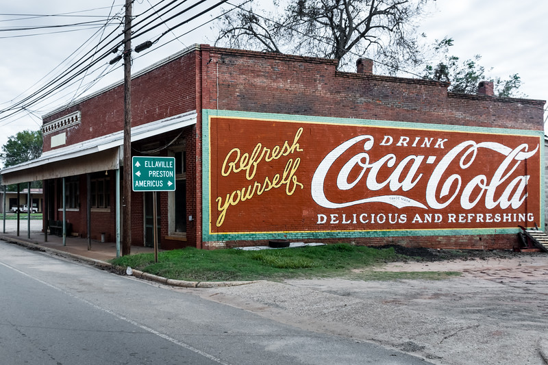 GA, Plains - Coca-Cola Wall Sign