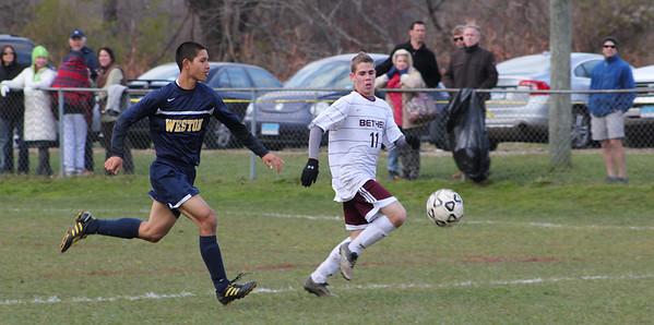 Varsity Boys Soccer vs Weston - 11/11/2011
