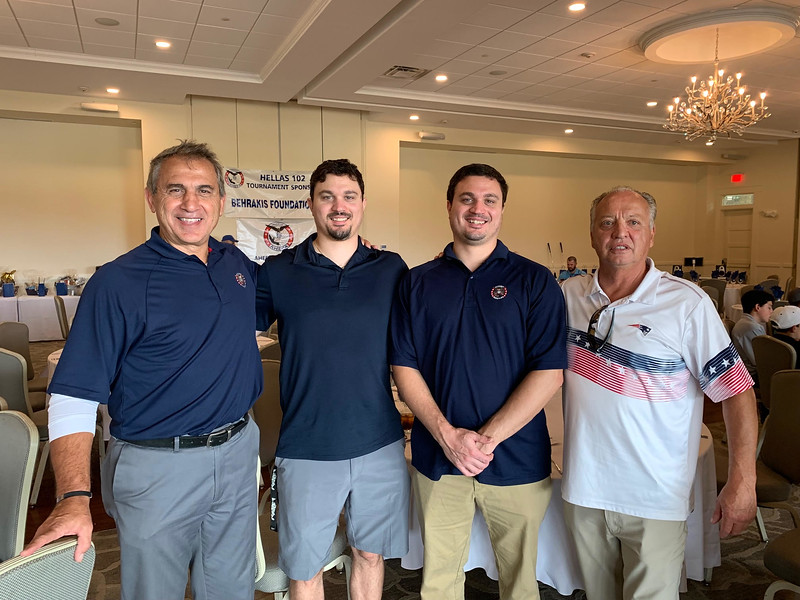 From left, Peter, Chris and Nick Michailides, with Jerry Pelletier, all of Hudson