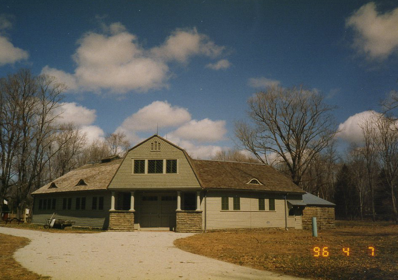 . The Carriage House at the James A. Garfield National Historic Site, April 1996. (courtesy James A. Garfield National Historic Site)