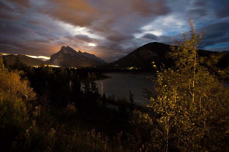 September 16 - Harvest Moon over Banff, Banff National Park, Canada.jpg
