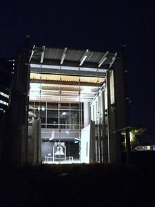 Liberty Bell Pavillion at night