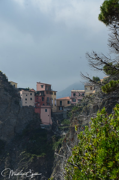View of Manarola from the Via Dell'Amore