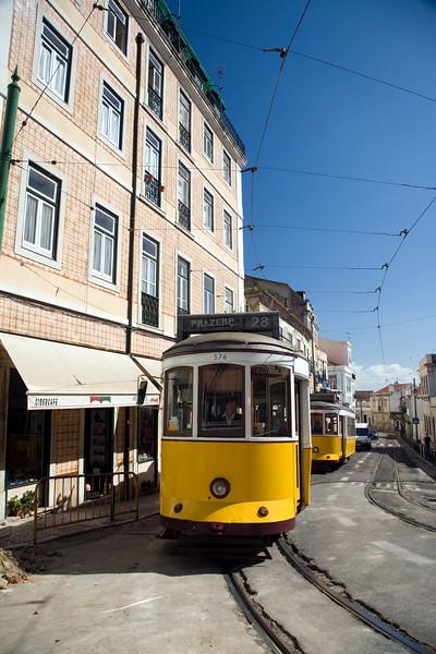 Lisbon tram, Alfama.