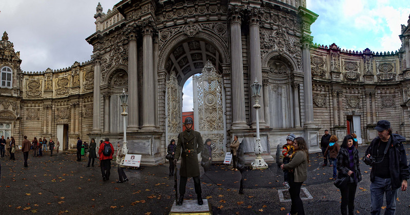 Dolmabahce Palace, Eastern Side, Istanbul.