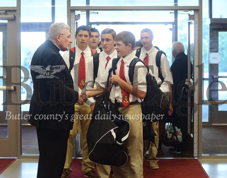 57589 Cardinal Wuerl North Catholic High School first day of school in cranberry