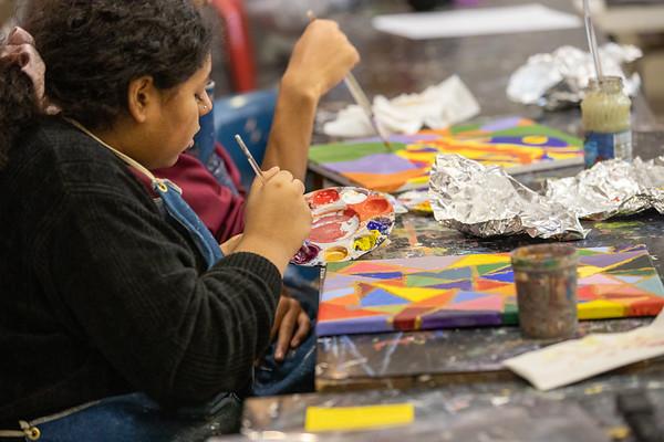 Upper School Art Classes - Drawing, Painting, and Ceramics