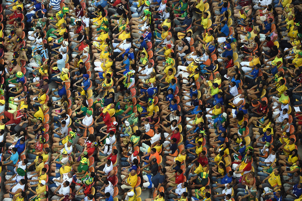 . \\A general view as the crowd watches the action during the 2014 FIFA World Cup Brazil Group D match between England and Italy at Arena Amazonia on June 14, 2014 in Manaus, Brazil.  (Photo by Francois Xavier Marit - Pool/Getty Images)