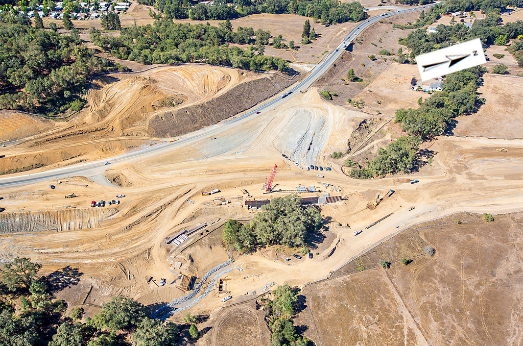 . The southern interchange. Willits bypass construction overflight Sept. 5; Pilot Mike Smith; photographer Steve Eberhard/TWN
