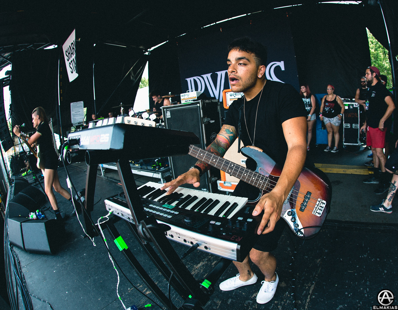 Brian MacDonald of PVRIS live at Vans Warped Tour 2015 by Adam Elmakias