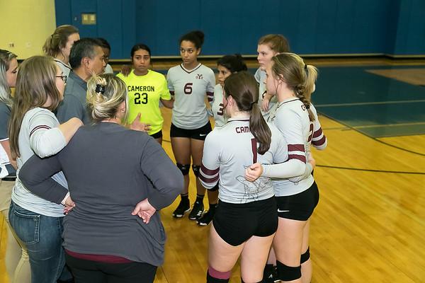 Rockdale v Cameron Varsity Volleyball 9-17