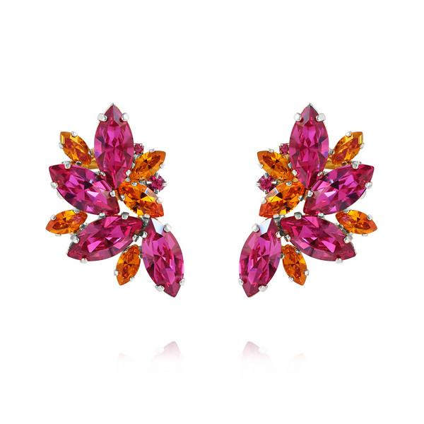 Iris Earcuffs / Fuchsia + Astral Pink Rhodium