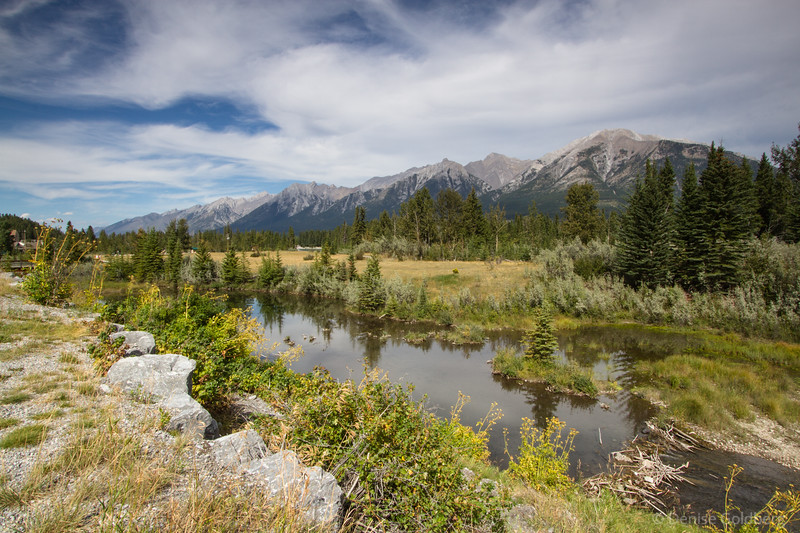 mountain views, along the path in Canmore