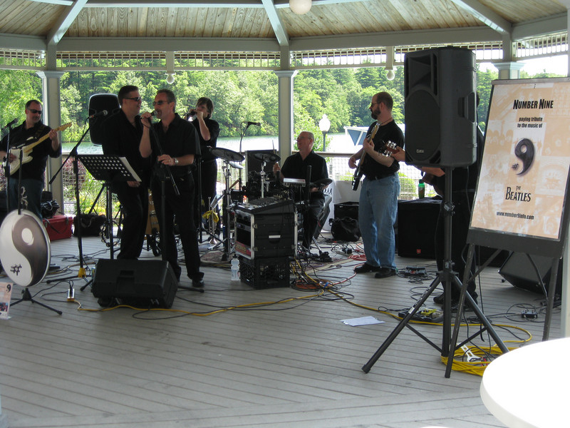 The Beatles tribute band, Number Nine, was playing a concert, for the Relay for Life event. They were pretty good.
