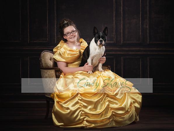 Ashton as Belle