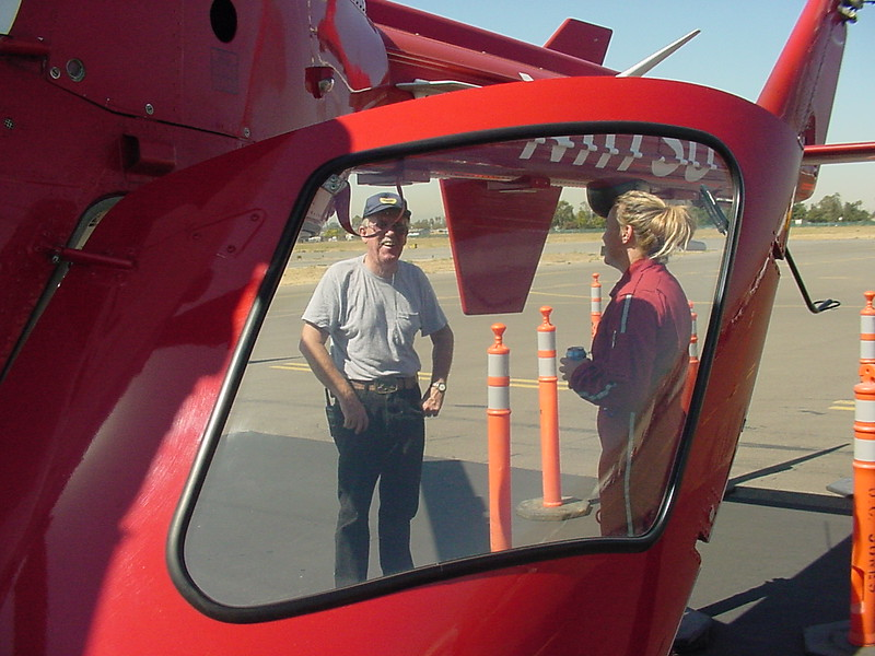 Don M and life flight helo and pilot.jpg