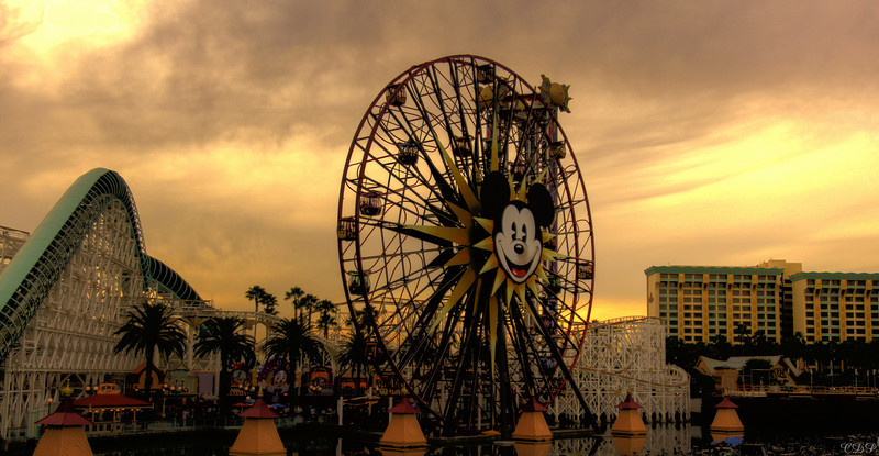 January 17, 2010  Disney California Adventure. This HDR photo was special to me. For those who know me, know that I LOVE Disneyland.  This picture is best viewed X2