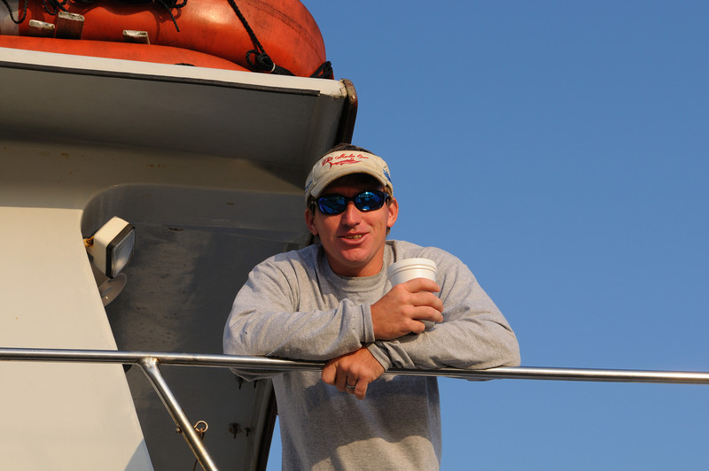 "Capt Chris of the headboat ""Angler"" heads out Saturday of Labor Day weekend......."