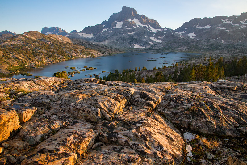 High above Thousand Island Lake in the Ansel Adams Wilderness.