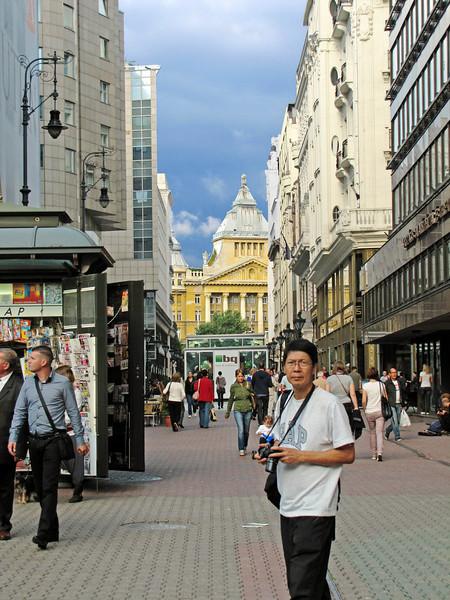 03-Yellow building on Karoly Korut seen from Deak Ferenc Street.