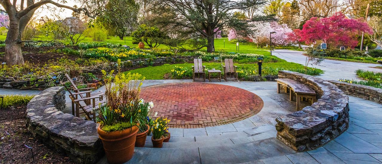 滨州斯沃斯莫尔学院(Swarthmore College),校园里花园