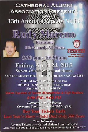 13TH ANNUAL COMEDY NIGHT @ STEVEN'S STEAK HOUSE • 04.24.15
