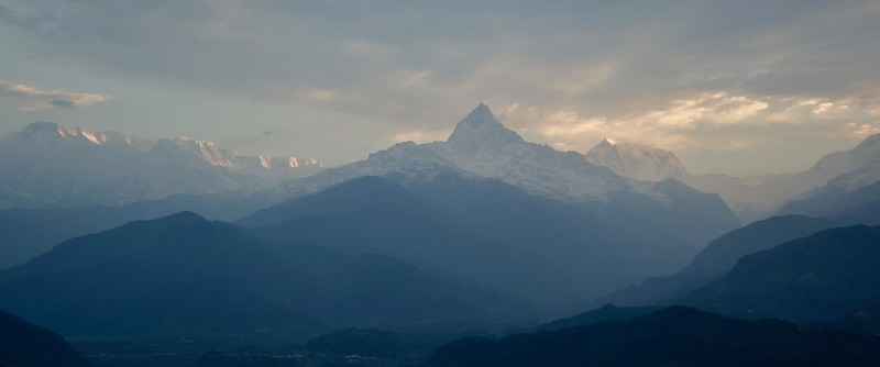 Fishtail peak in the Annapurna range, Himalayas