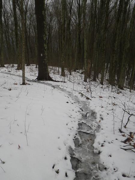 Slippery slush made for some slow hiking