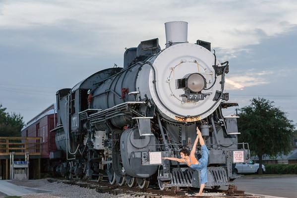 Grapevine vintage train
