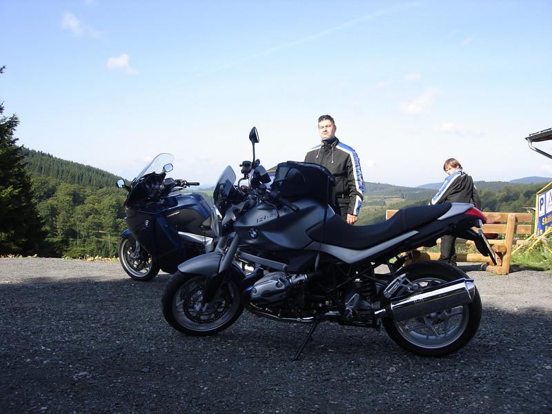 Dinsdag 18 augustus 2009  onze eerste stop op de rit vandaag - Alstastenberg