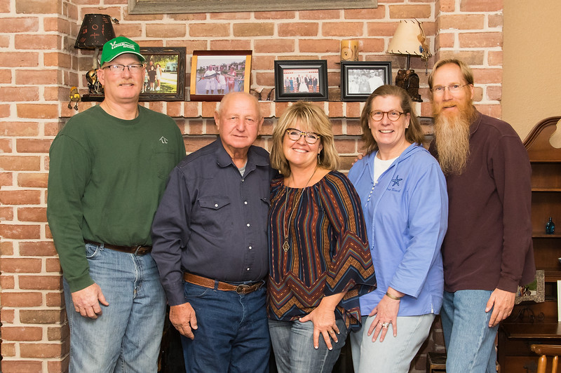 Barry, Tommy, Deb, Jay, Mark, Weatherford, TX, November 25, 2017
