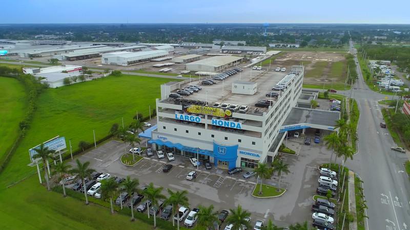 Aerial footage Largo Honda Florida City Miami Dade County