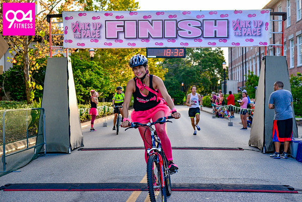 Pink Up the Pace Finish Line