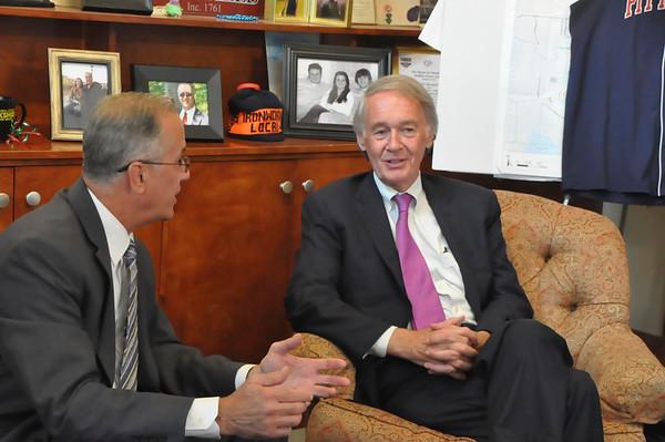 Senator Ed Markey visits Pittsfield-081015