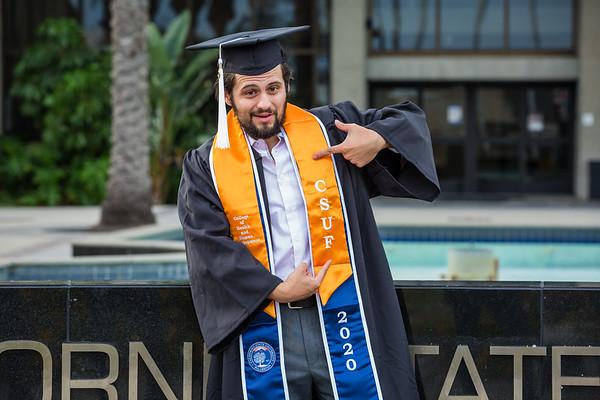 Mario CSUF Graduation Portraits
