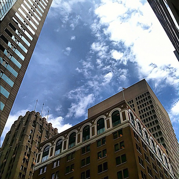 Downtown Seattle - brick, stone, steel and glass