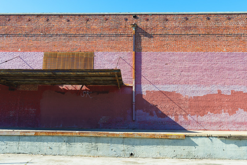 Vacant old warehouse in South Los Angeles Industrial District.