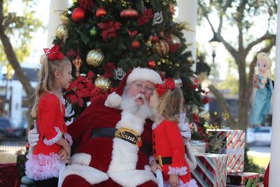 Marianna and Jennifer meet Santa in San Marco, Jacksonville Florida