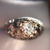 0.94ctw Vintage Old European Cut Diamond Dome Ring, Center OEC (GIA .59ct G SI2) 10
