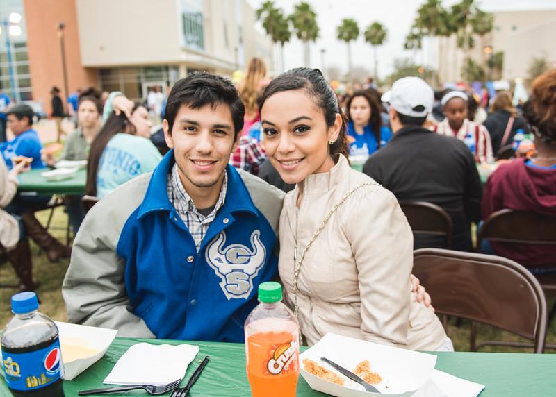 Carlos Ramiez(left) and Lilianna Negrete at the 2016 Homecoming Friday Fiesta.