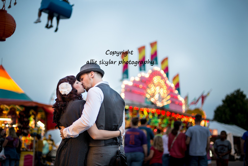 Kristey and Jered decided to have part of their session at the local fair!  These two are stunning and their love is gorgeous.