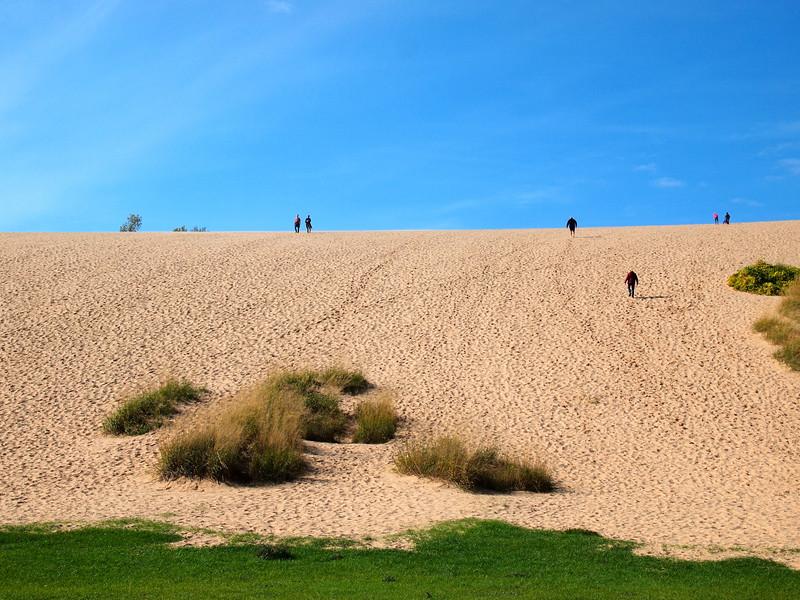 Sleeping Bear sand dunes in Michigan