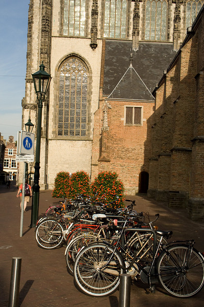 Delft. Lots of bikes and flowers here, too.