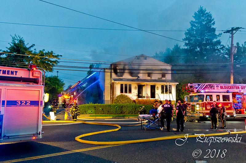 8-20-2018 - (Camden County) MT. EPHRAIM - 204 Center St. - 2nd Alarm Dwelling