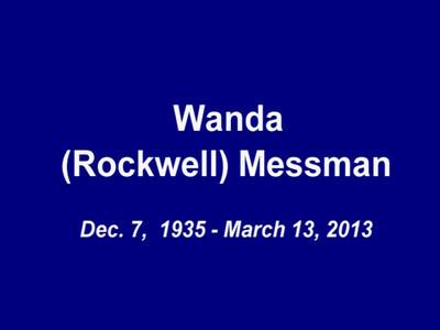 Wanda Messman Memorial DVD