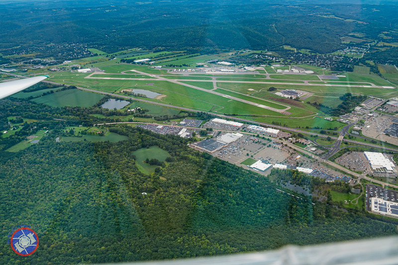 The Elmira Corning Regional Airport Seen from a Sailplane (©simon@myeclecticimages.com)