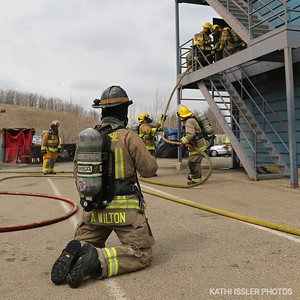 Firefighter recruit training-burn tower, May 5, 2019