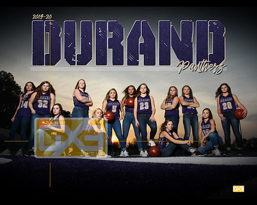 Durand girls basketball GBB1920