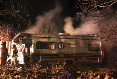 Motor Home Fire, S. Kennedy Drive, SR309, McAdoo (11-29-2013)