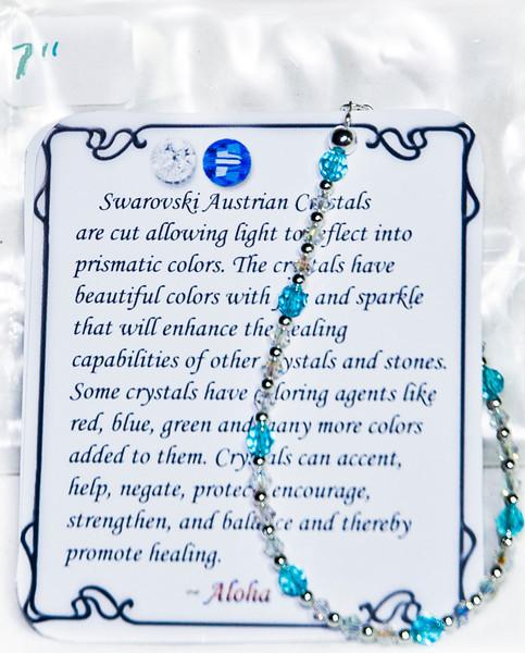 Aqua & Clear  Swarovski crystal